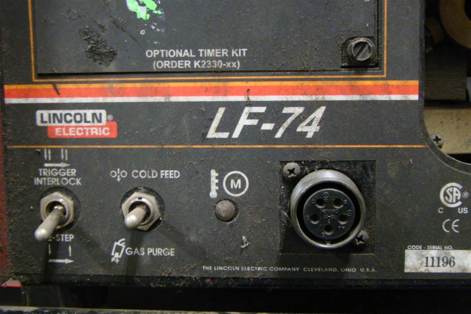 lincoln idealarc phase mig welder cv lf wire feeder lincoln idealarc 3 phase mig welder cv 305 lf 74 wire feeder