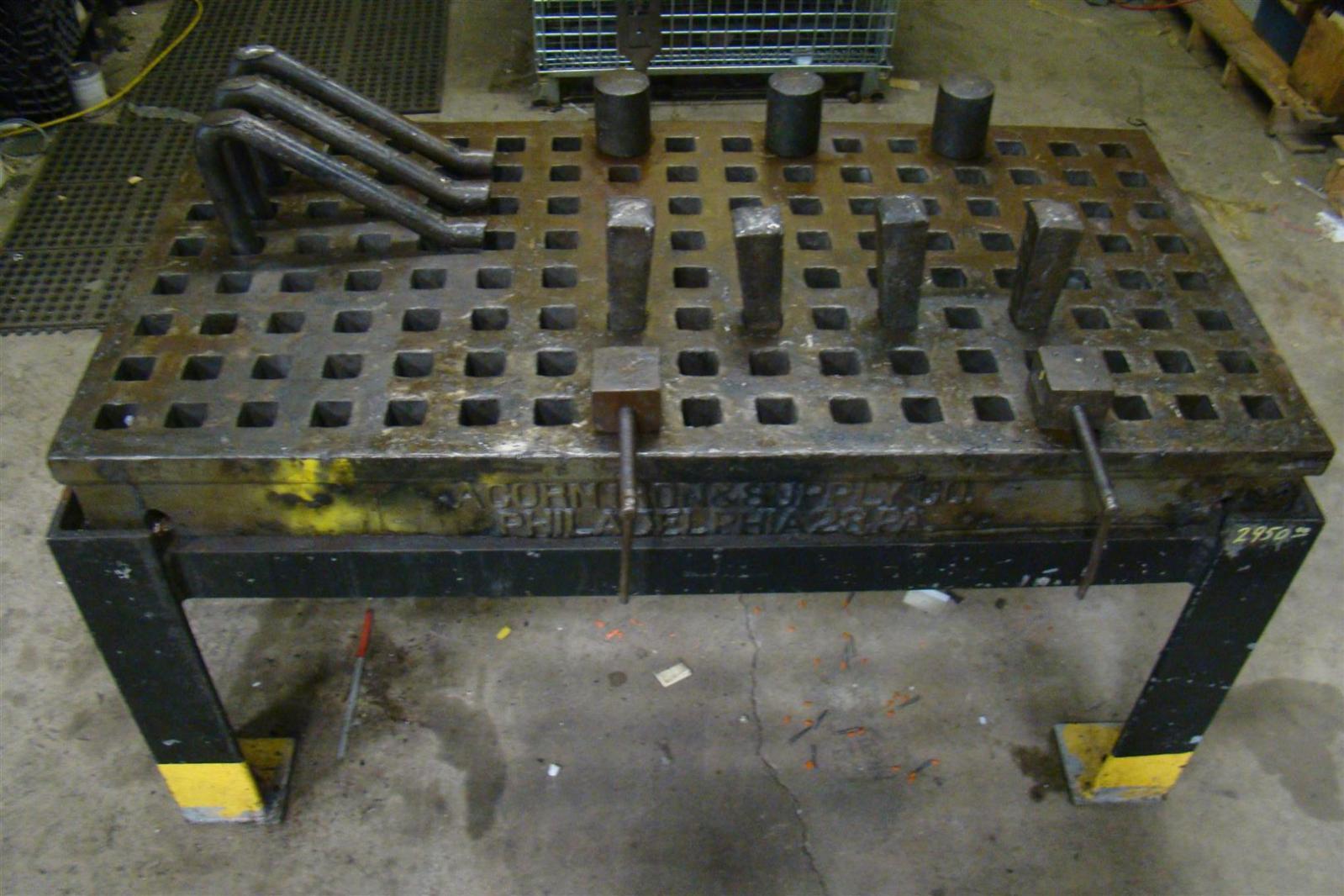 "Welding Platen Table Details about Acorn Welding Platen Layout Table 60"" x 30"" Custom Stand"