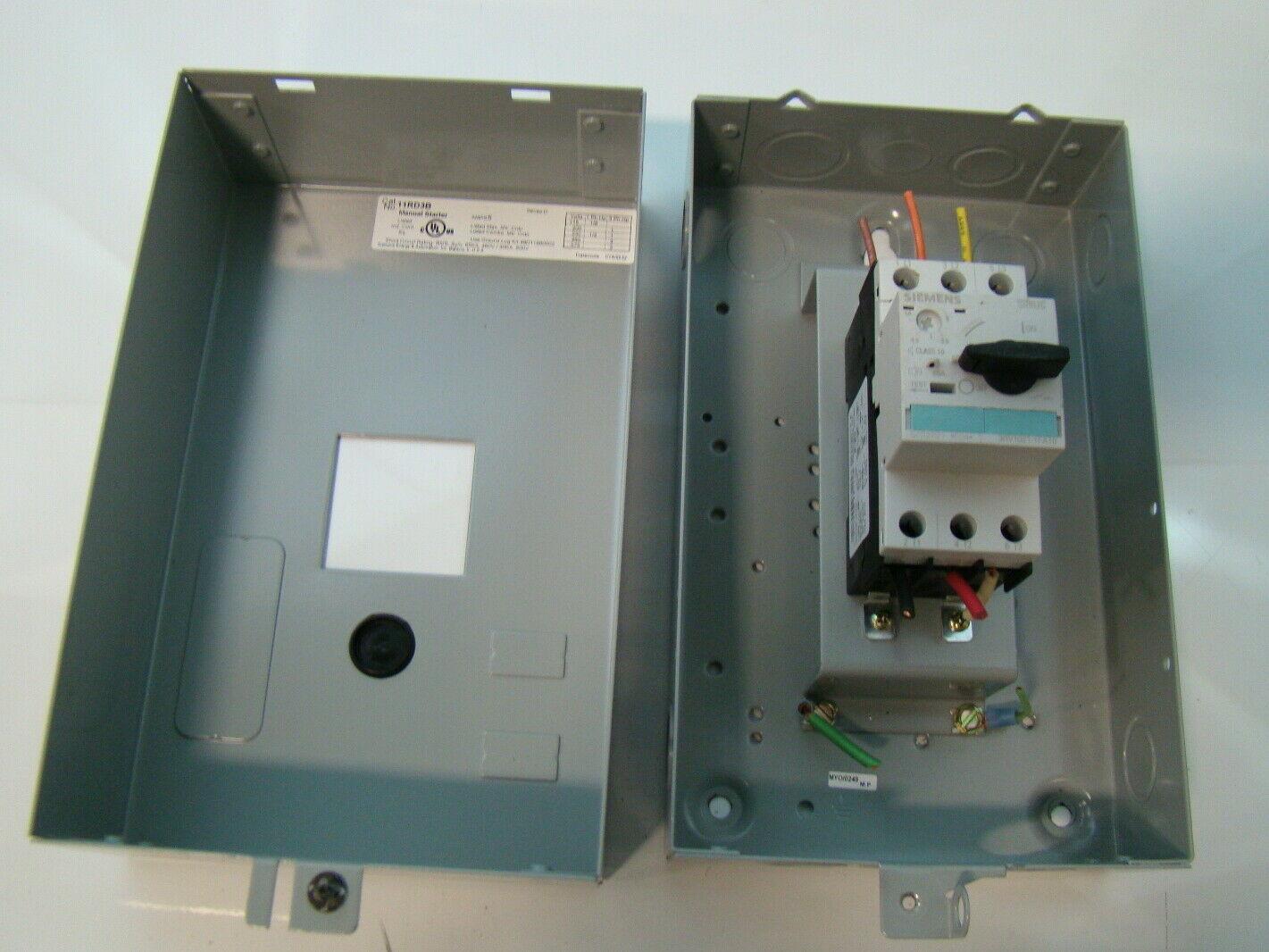 Siemens Enclosed Manual Starter 3ph 11rd3b Ebay