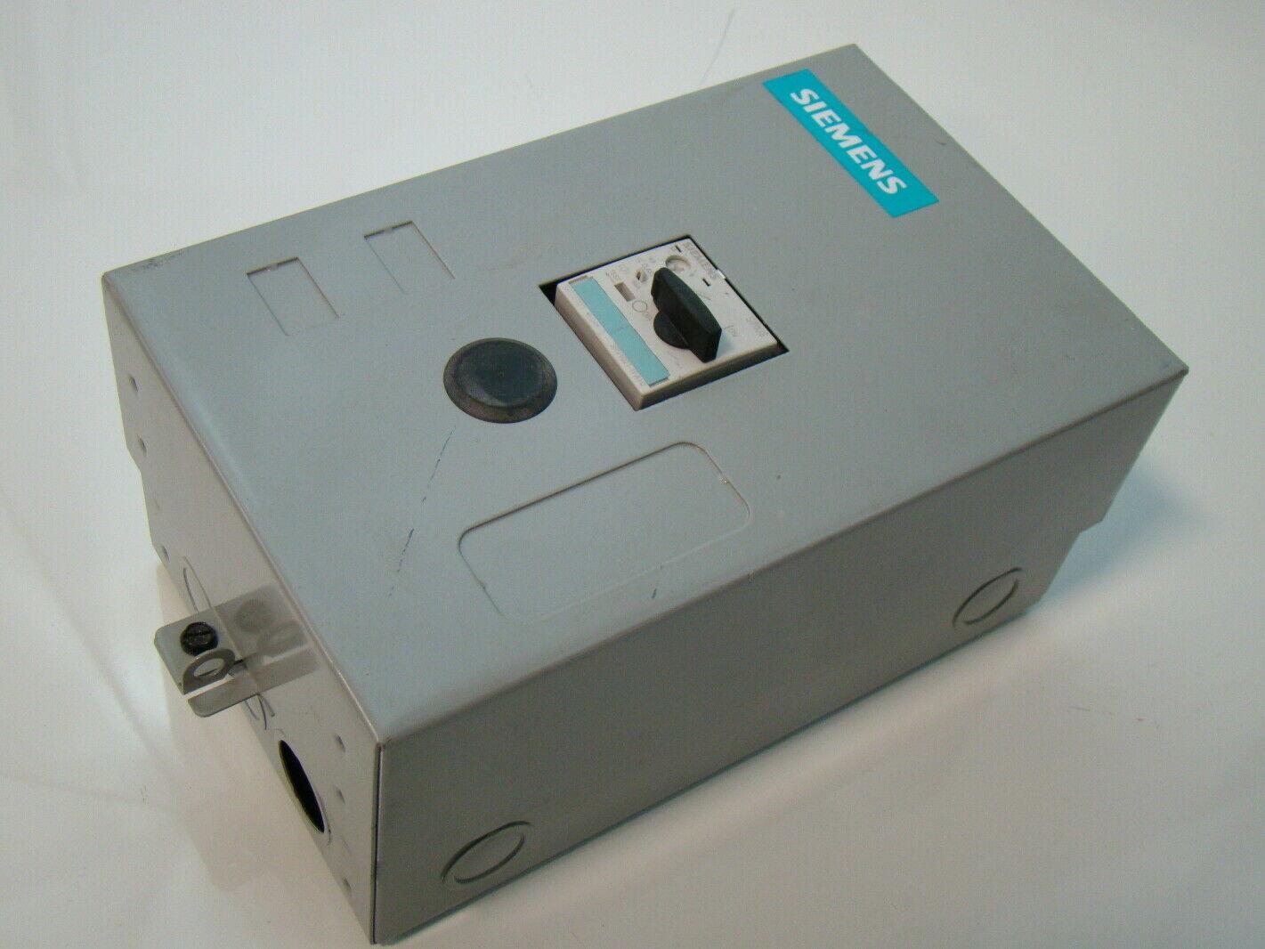 Siemens enclosed manual starter 3ph 11rd3b ebay for Siemens manual motor starter