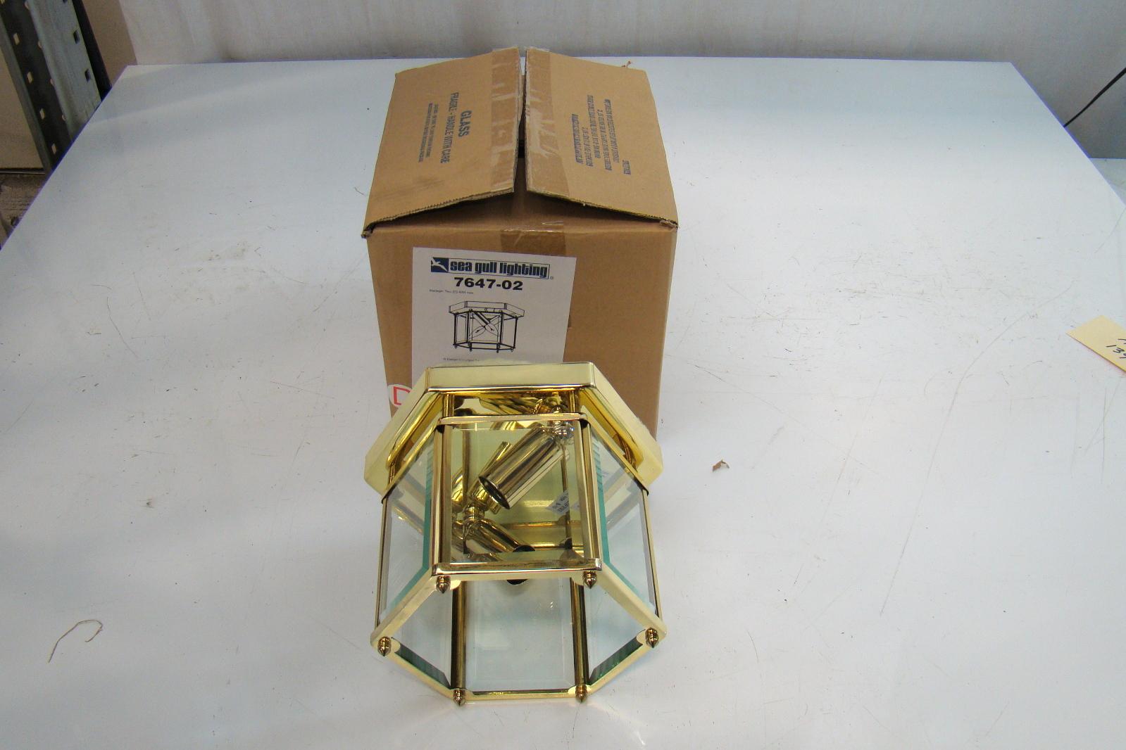 Sea Gull Polished Brass 2 Light Ceiling Fixture 7647 02 Ebay