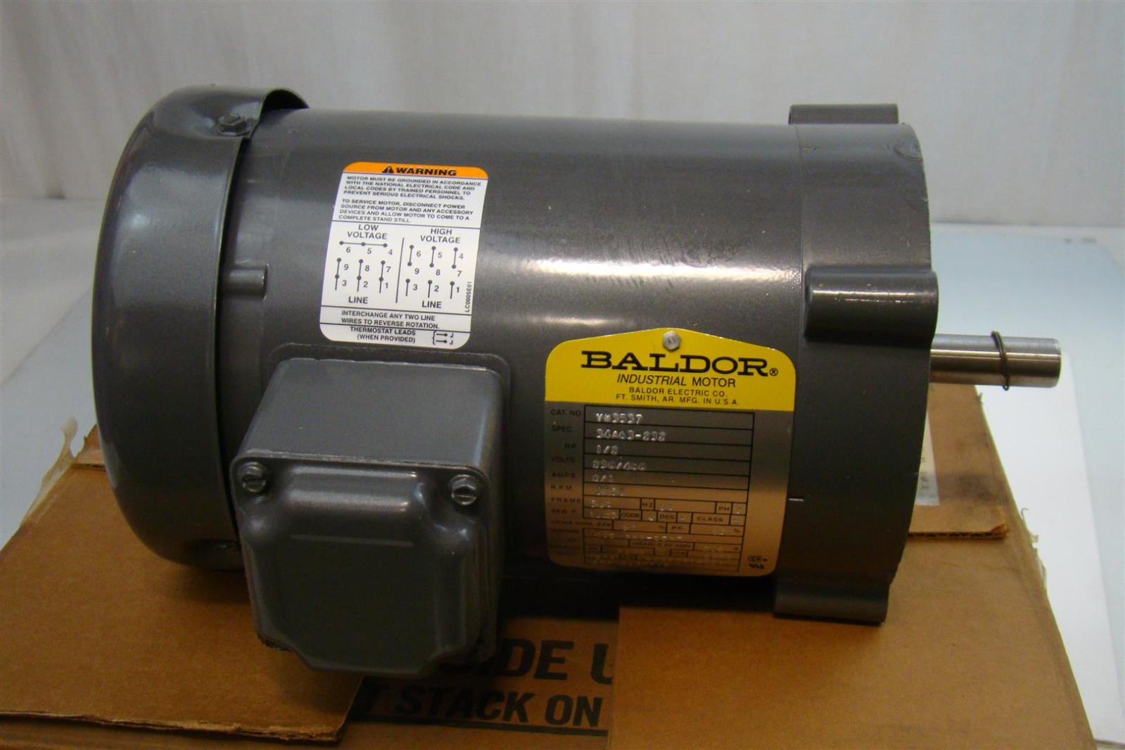 Baldor Electric Co Industrial Electric Motor 230 460v 2