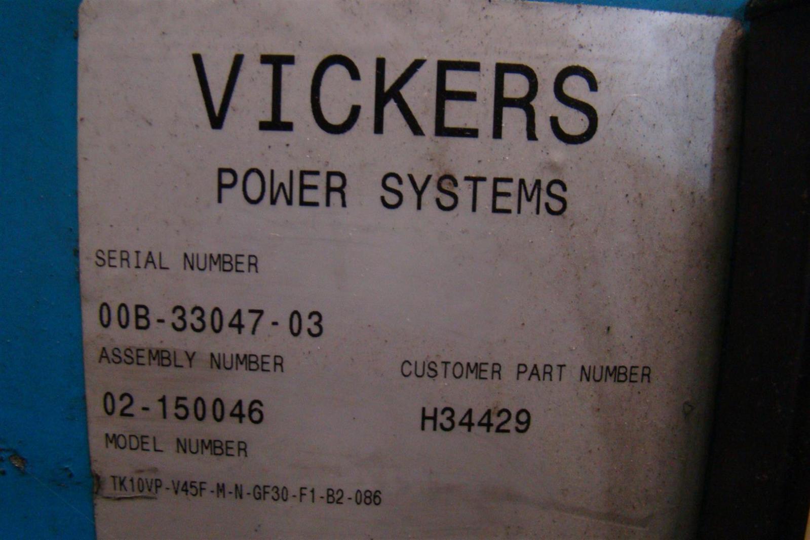 Vickers Hydrualic Power Distrubution Unit 10vp V45F H34429 02-150046