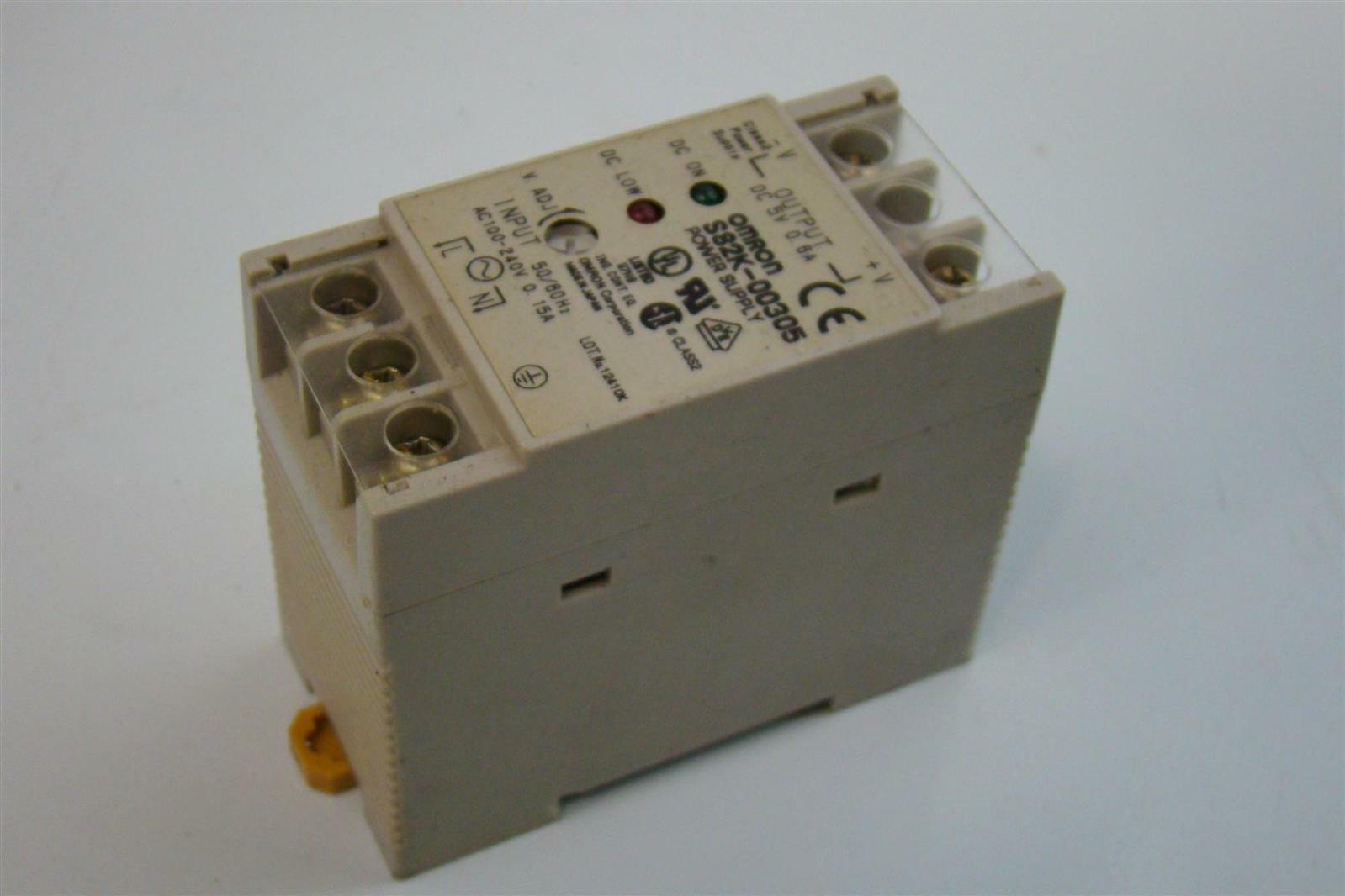 Omron Dc Power Supply 100 240v 50 60hz 0 15a S82k 00305 Ebay