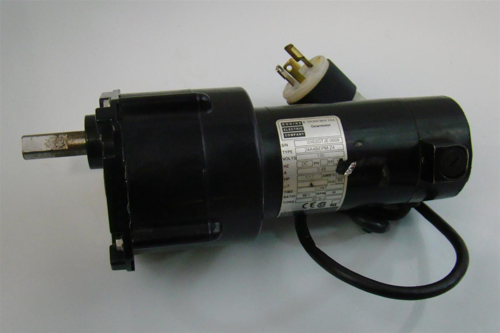 Bodine Electric Company Gear Motor 130v 1 17hp 24a4bepm Za