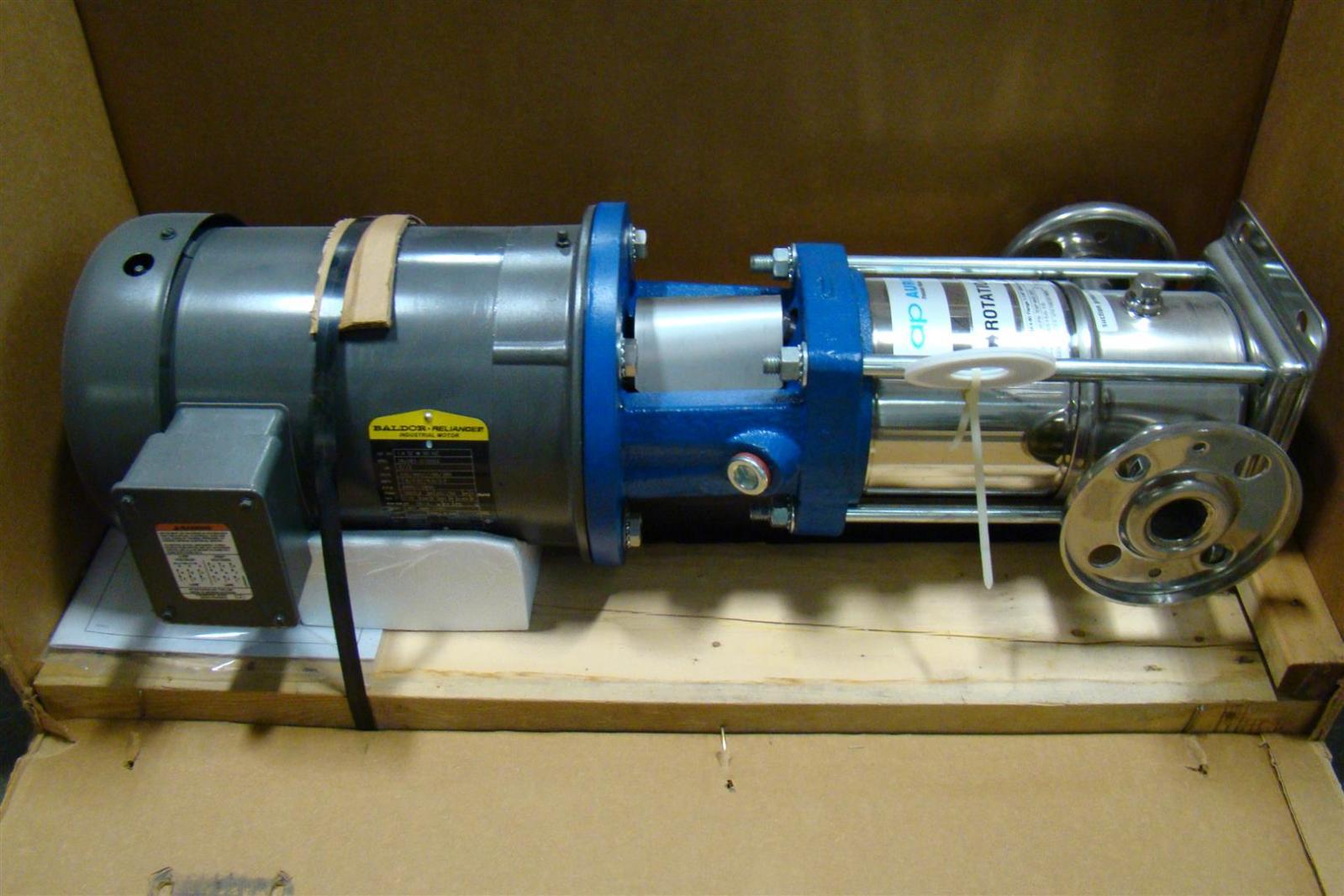 Ap aurora pentair water stainless pump pvm4i 60 1 1 4 3hp Baldor industrial motor pump