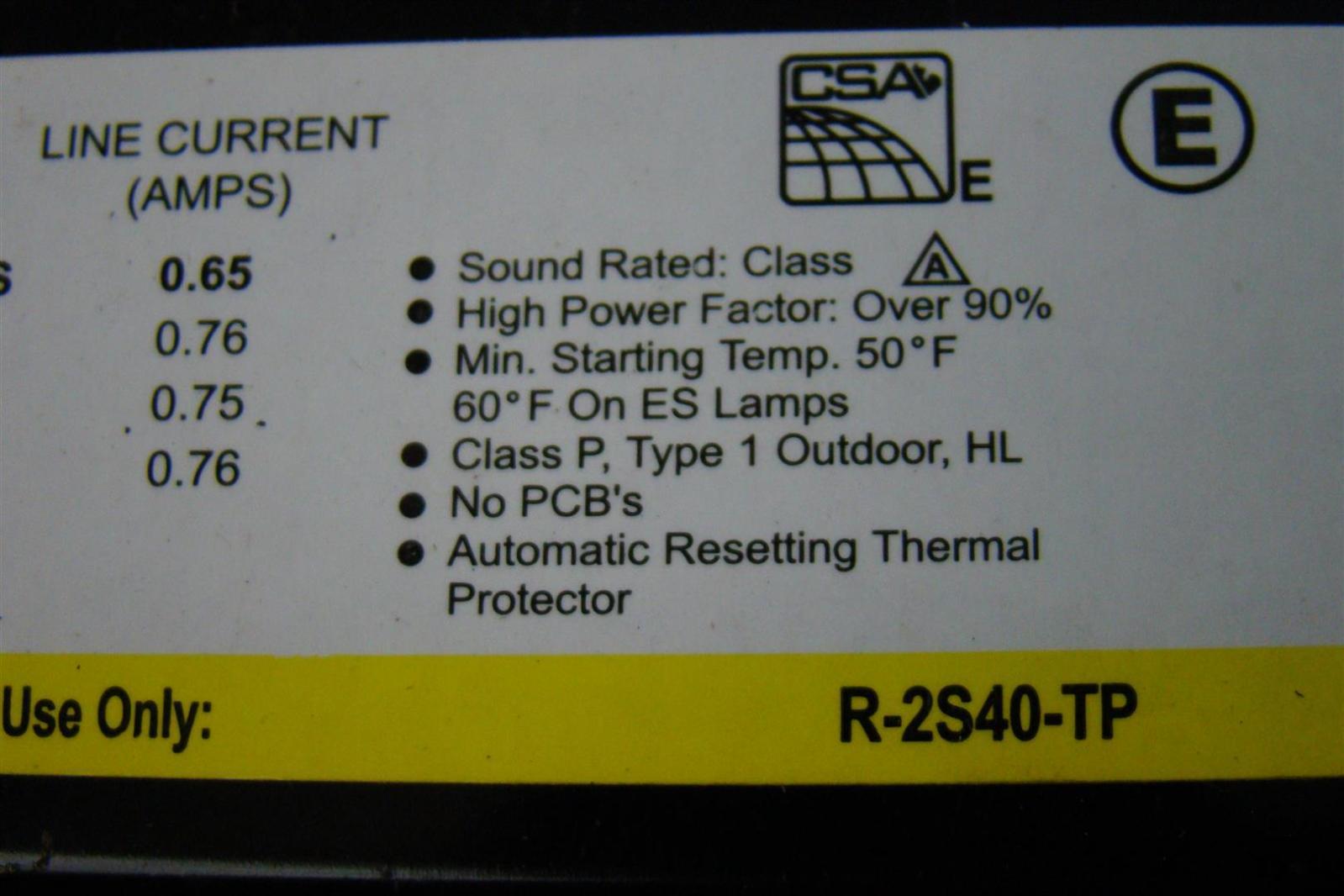 Universal Lighting Technologies B454punv 4 Auto Electrical Wiring Accustart5 B454punve Lamp F54t5ho Electronic Fluorescent F40t12 Ballast 120v 60hz R