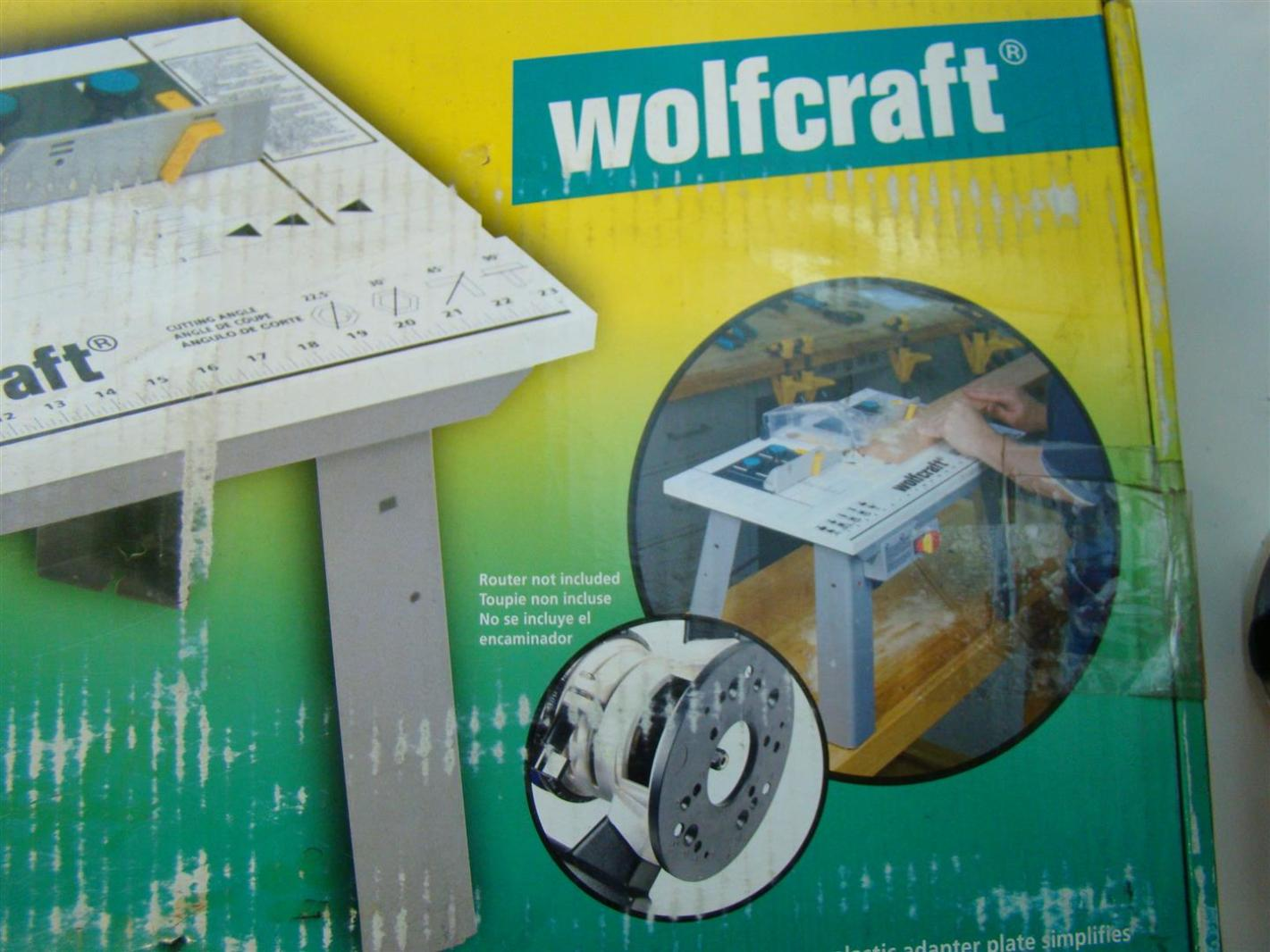 Wolfcraft router table 14 x 23 1 2 mdf 1 1 2 diameter for Table wolfcraft