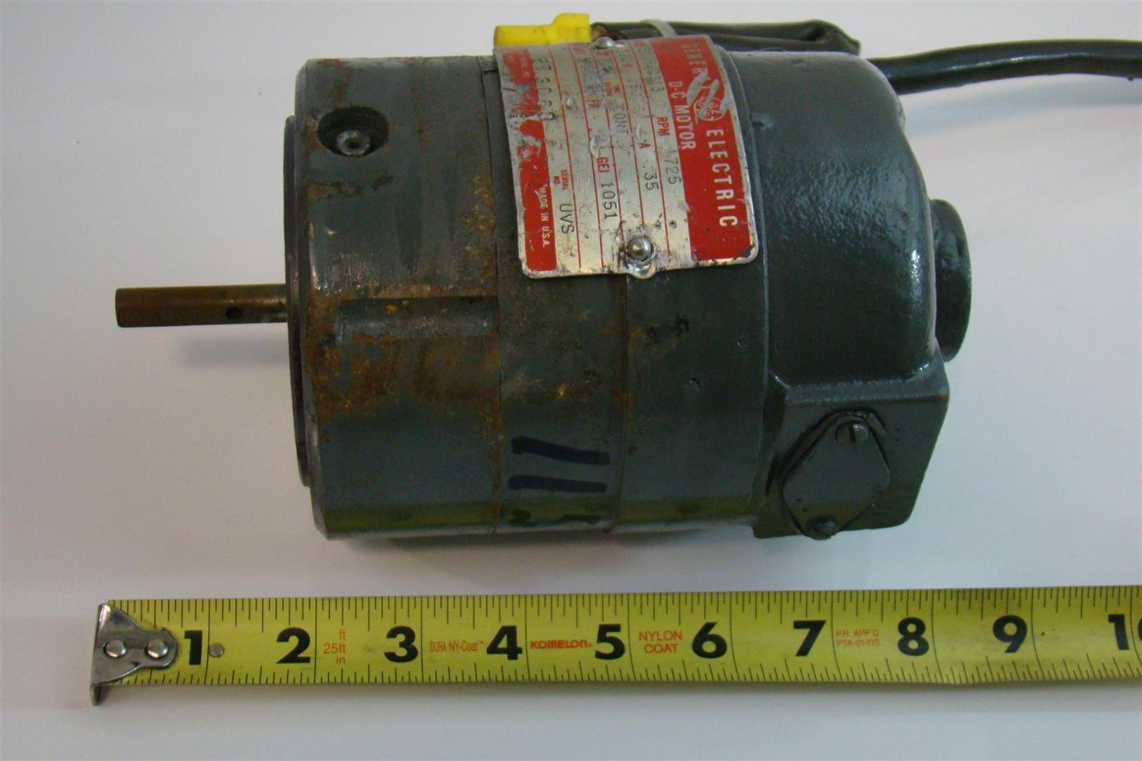 General Electric Dc Motor 1 2hp 250v 35amps 1725rpm 5bc26ac313