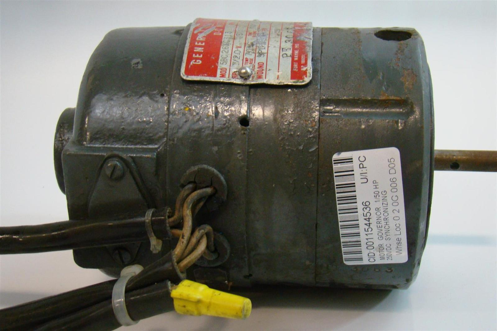 General electric dc motor 1 2hp 250v 35amps 1725rpm for 2 hp motor current