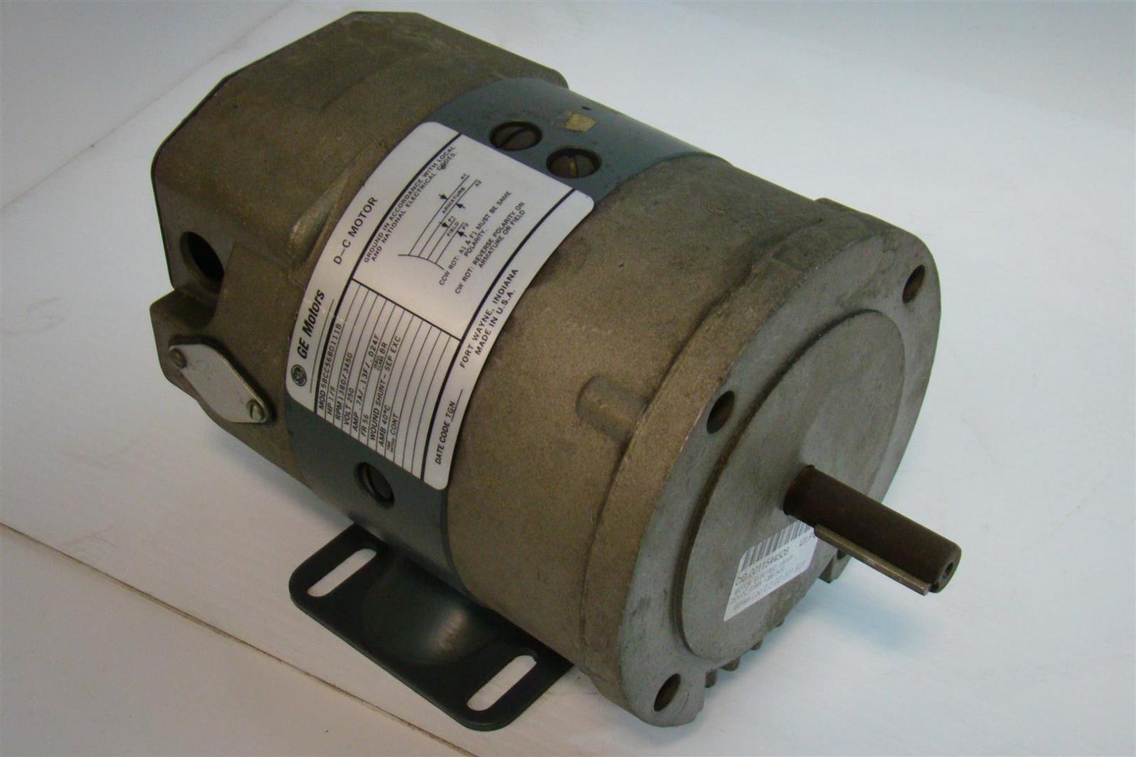 General electric dc motors 1 8hp 1380 3450rpm 250v 7a for General electric dc motors