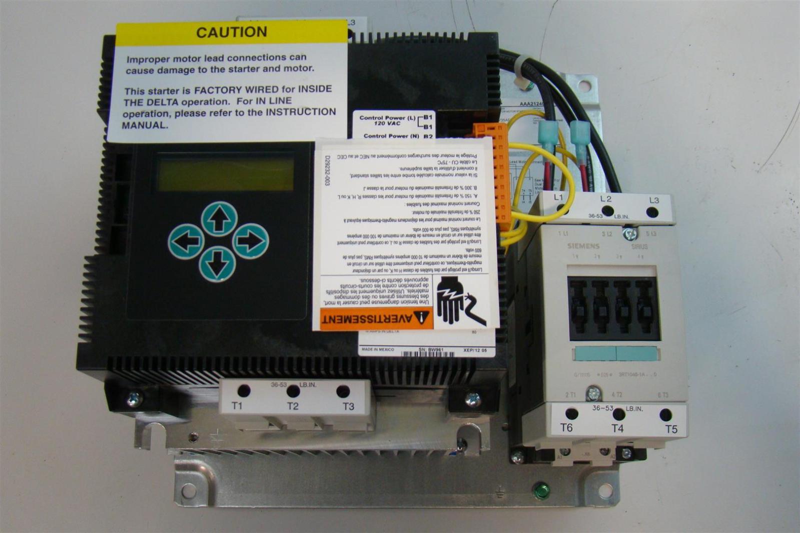 Siemens elevator starter ac semiconductor motor starter for Circuit breaker for 7 5 hp motor