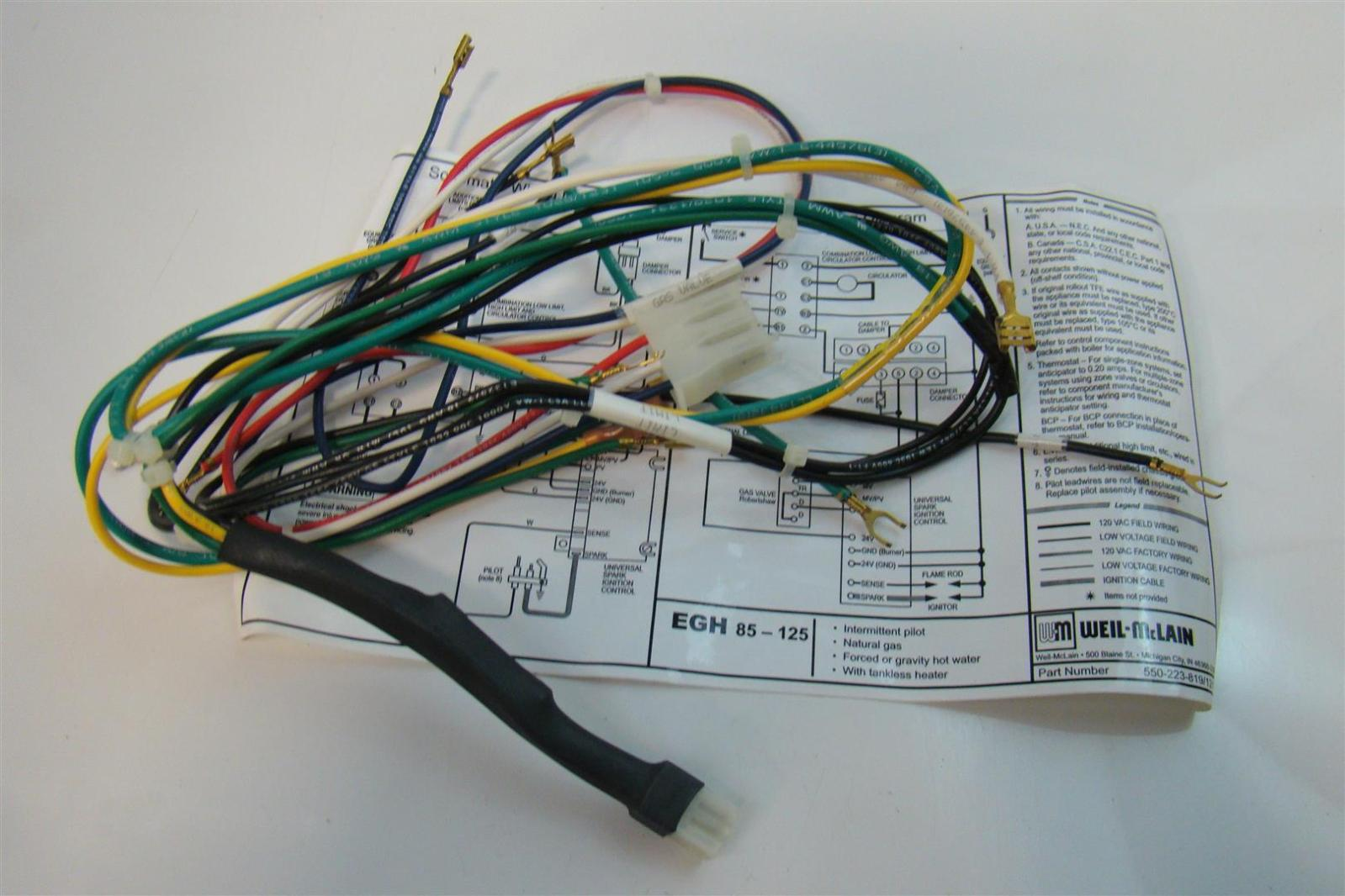 Weil Mclain Wiring Harness For Water Boilers W Tankless Heater Egh Boiler Schematic Diagram 85