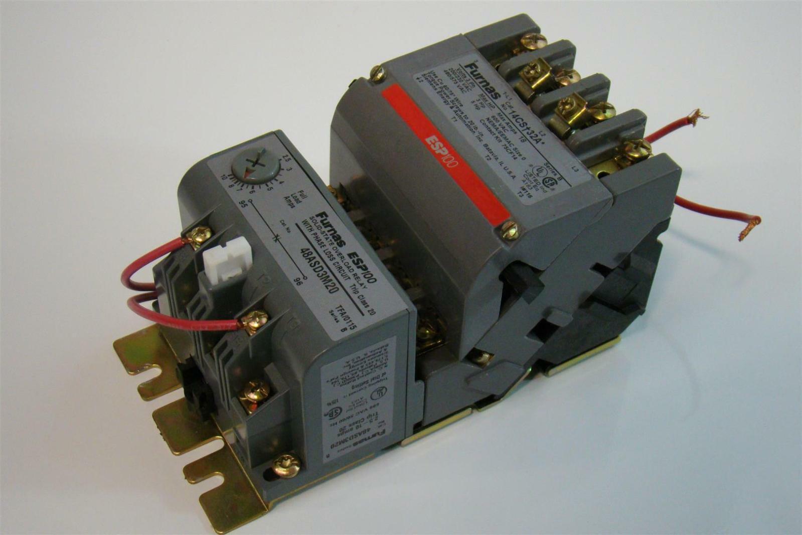 Furnas Motor Starter 3 5hp 200 230vac 3hp Esp100 Ebay