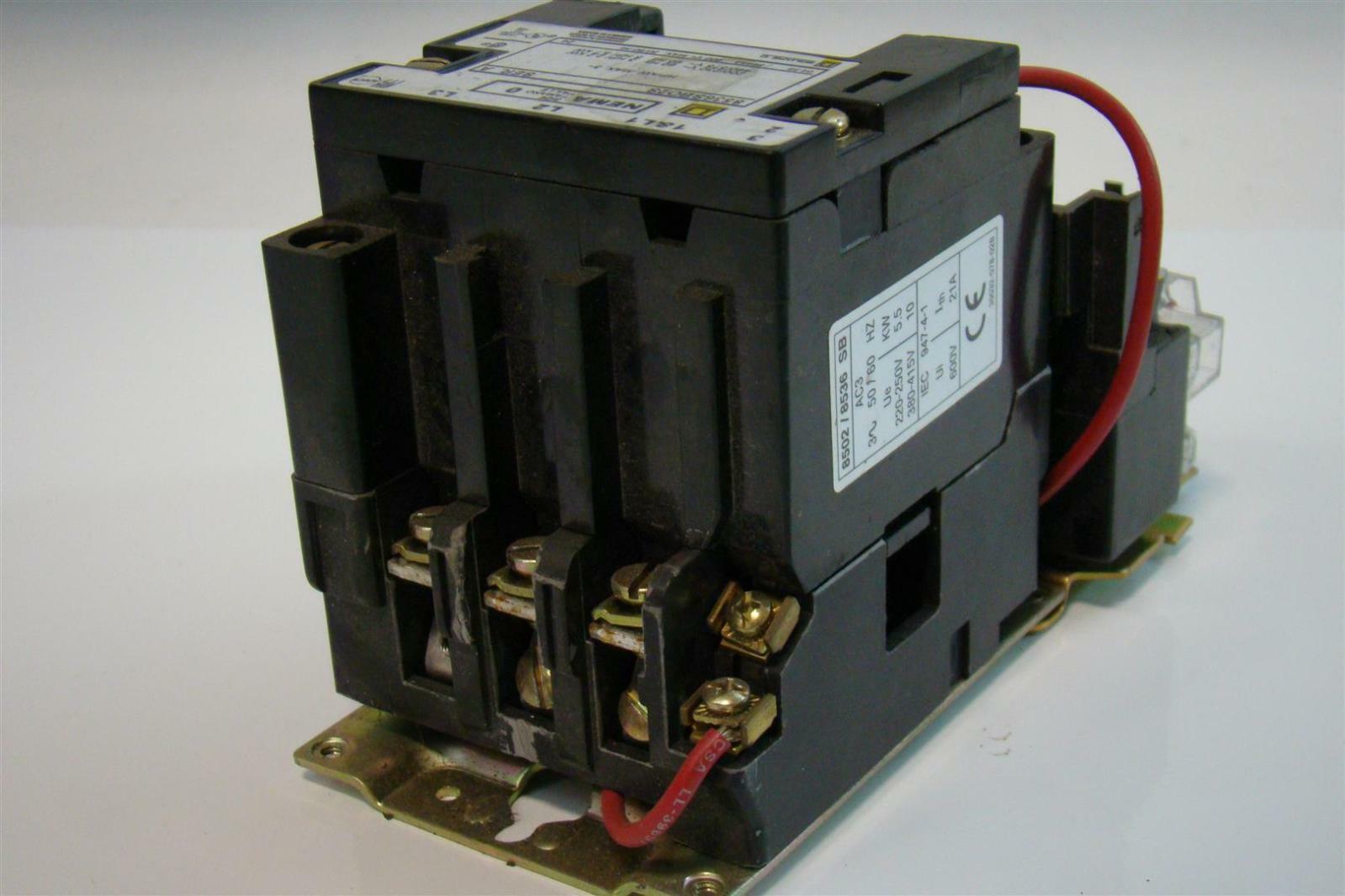 Square D Motor Starter Size 0 3 5hp 8502 8536 Sb 608536sbo2s