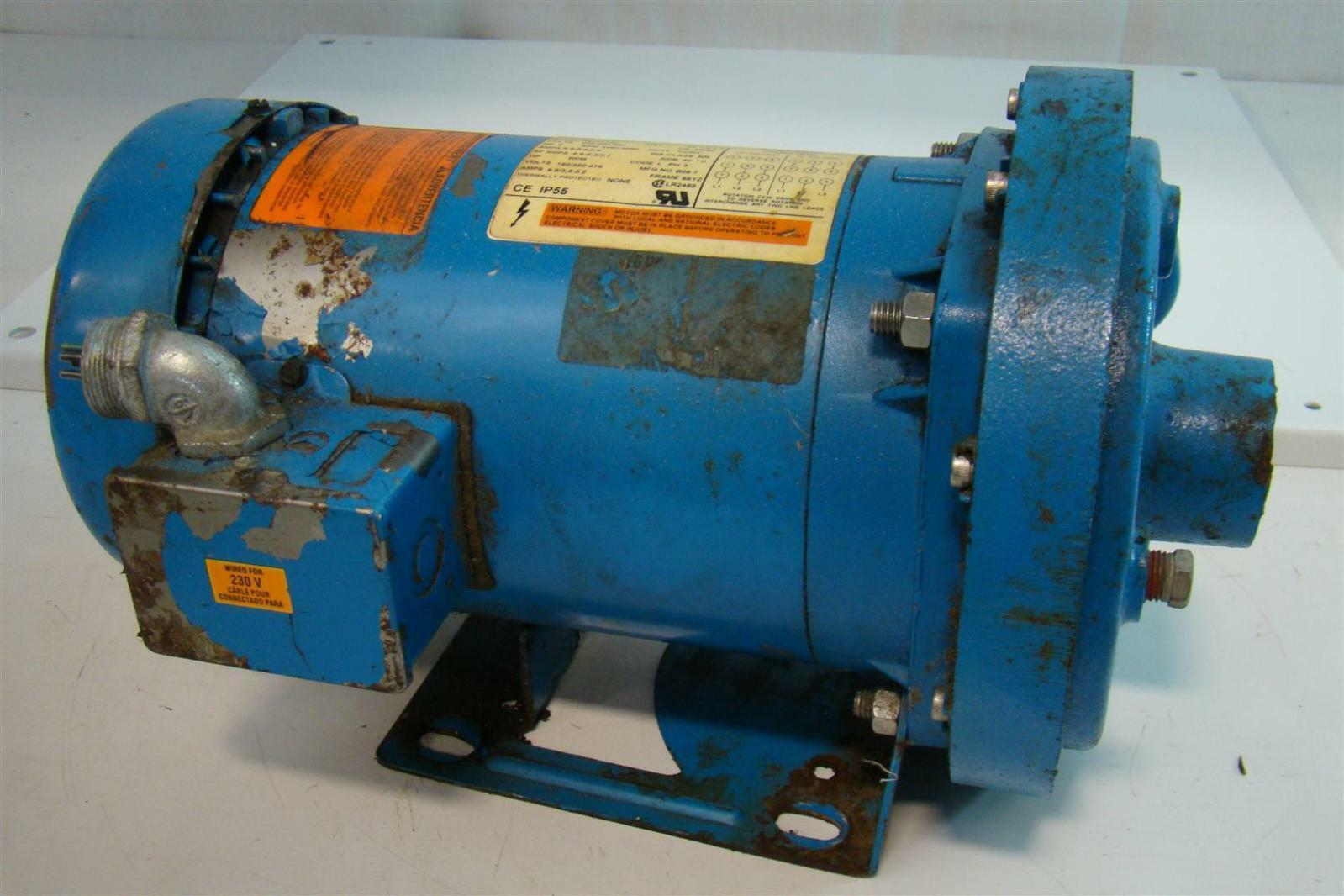 Itt coulds centrifugal pump 2hp emerson motor 208 230 460v for Emerson electric motor model numbers