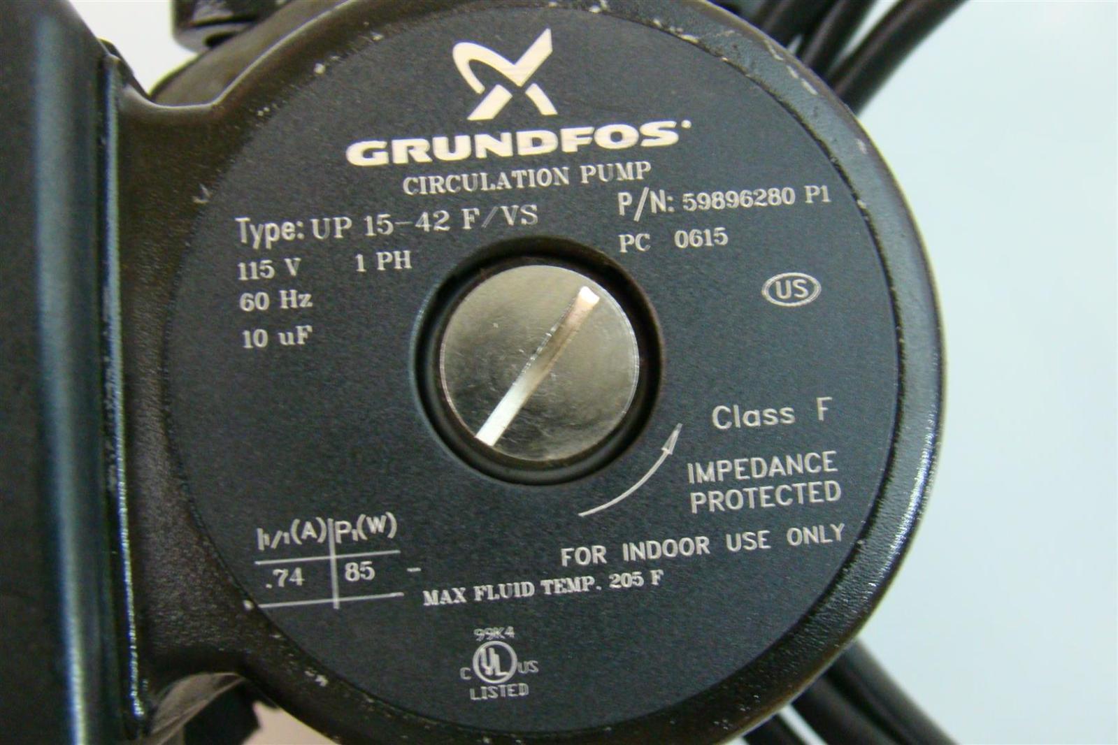 Variable Speed Circulator Pump 1PH 115V 60Hz UP15 42 F/VS eBay #4C7F7B