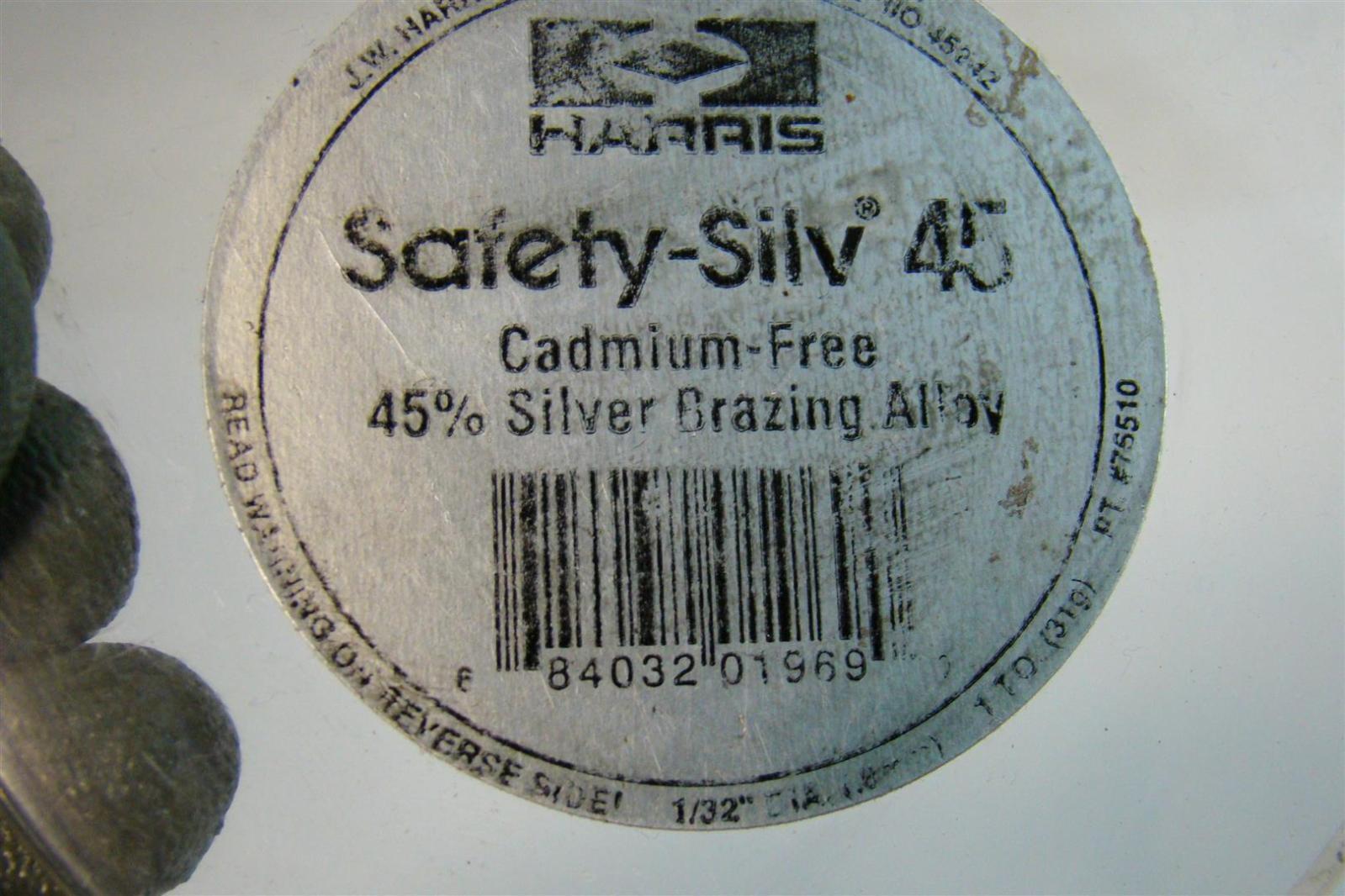 Harris safety silv cadmium free silver brazing