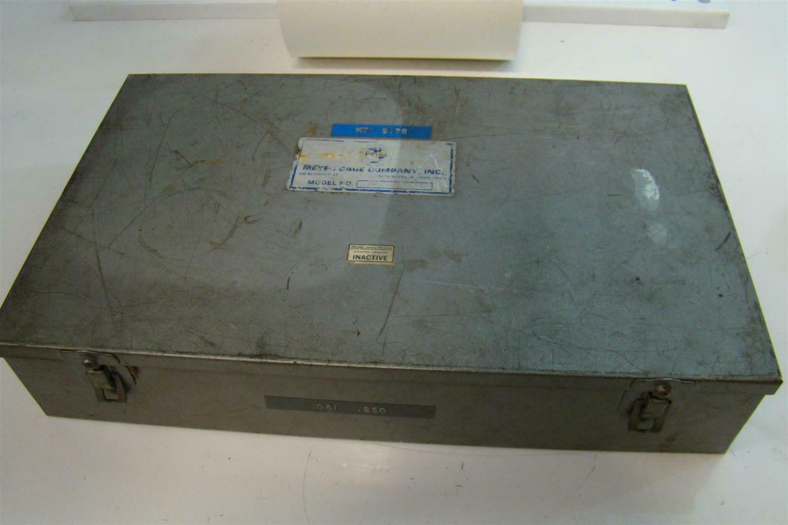 Meyer Gage M-1 PLUS .061 to .250 Plug Gage Set USED