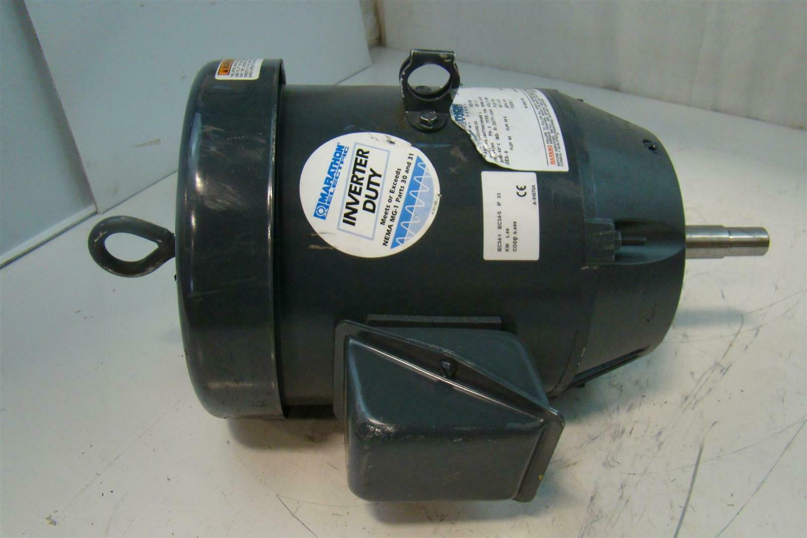 Marathon electric motor 2hp 200v 184ttdr7694br l 184jmv for Marathon electric motors model numbers