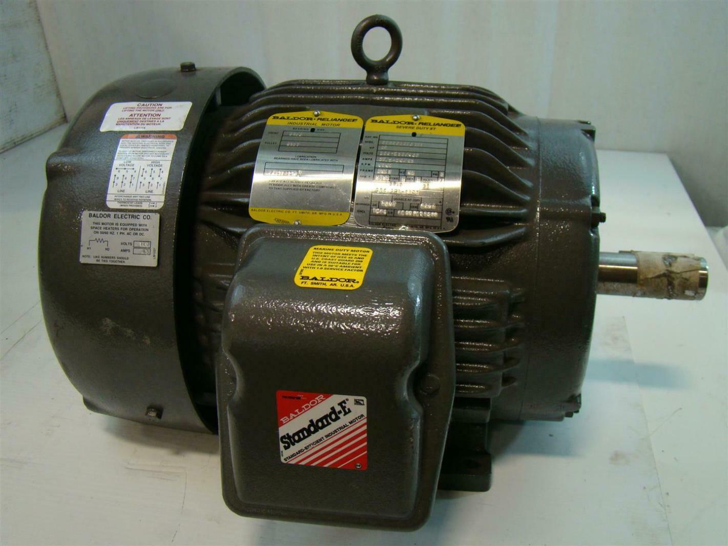 Baldor reliance severe duty xt 10hp 208 230 460v 1760rpm for Baldor reliance motor parts