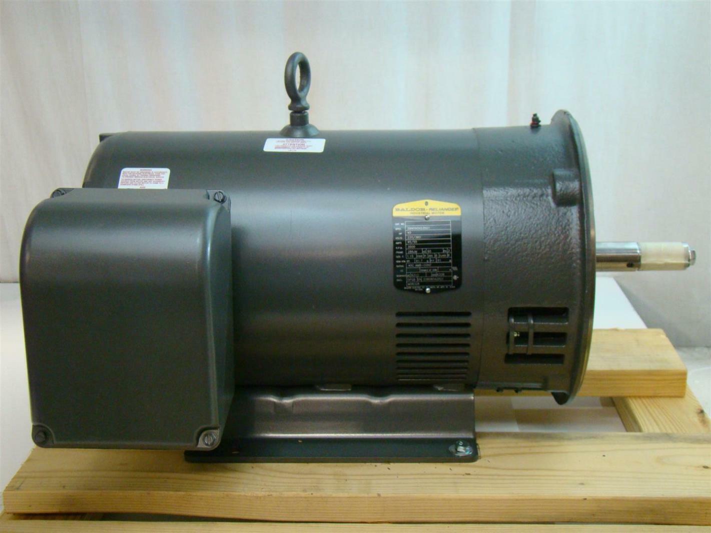 Baldor reliance 40hp electric motor 220 380v 3500rpm 3ph for 40 hp dc motor