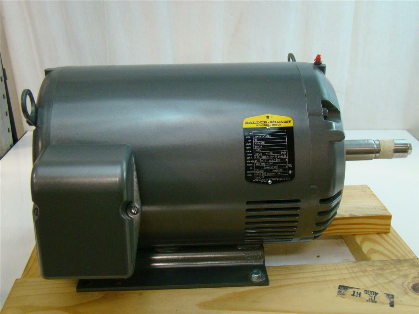 Baldor reliancer industrial motor 20hp 220 380v 50 29a for Baldor industrial motor parts