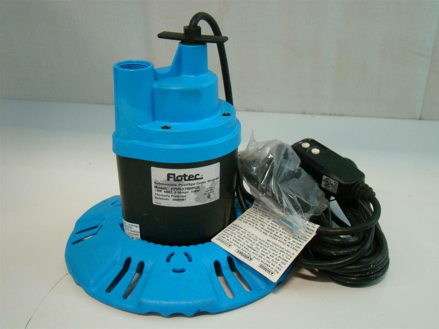 flotec submersible poolspa cover pump 115v 85amps 14hp 25u0027 fp0s1790pca - Flotec Sump Pump