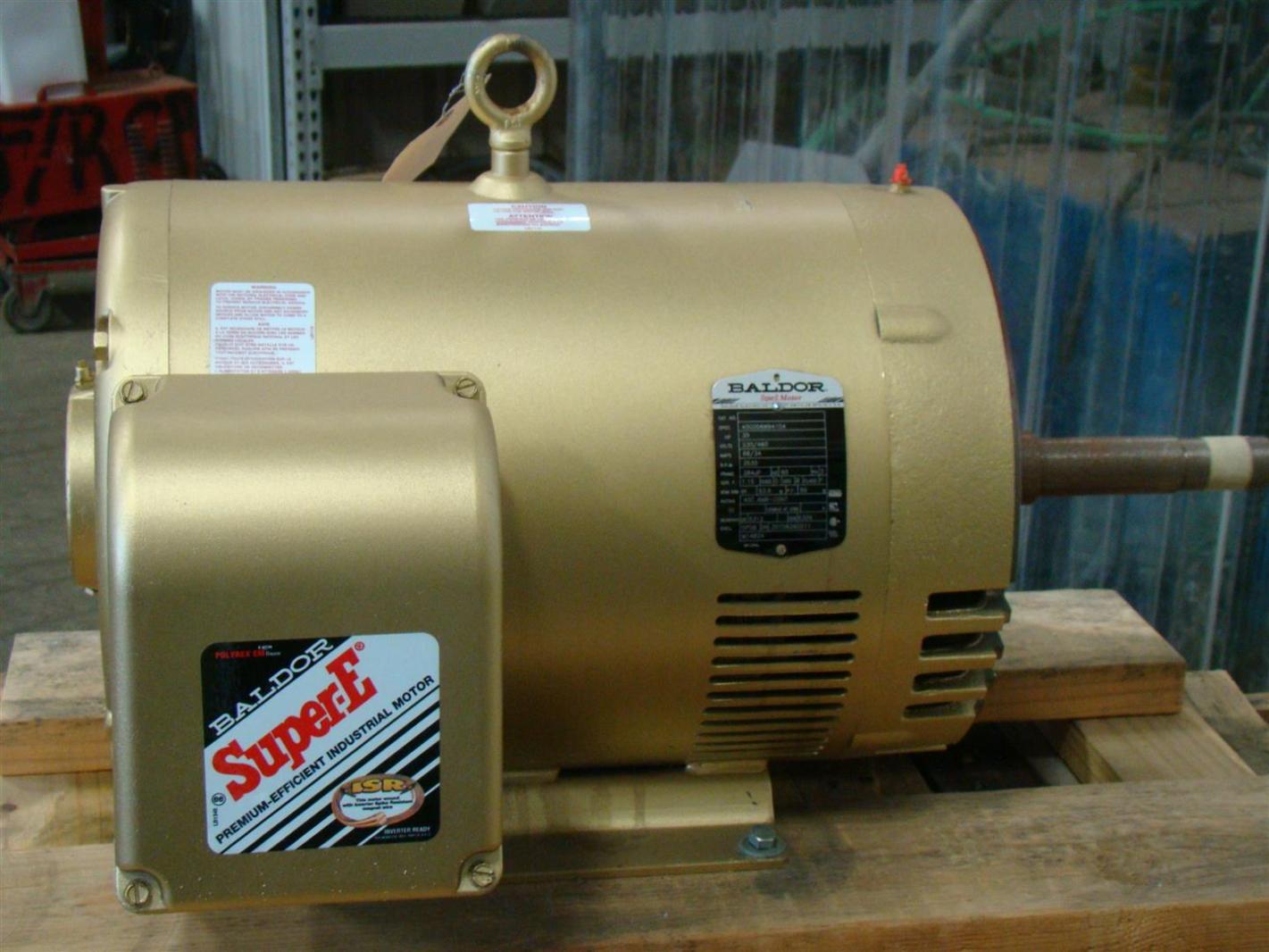 Baldor super e 30hp electric motor 230 460v 3530rpm 68 for Mcd motors mobile al