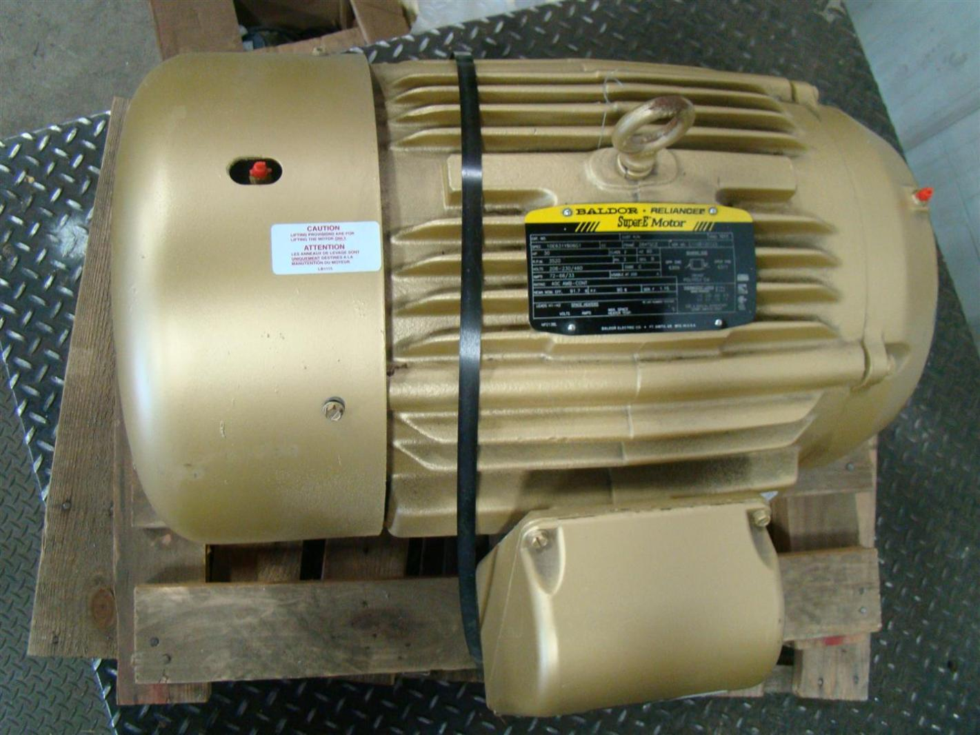 Baldor super e 30hp electric motor 3520rpm 208 230 460v 72 for Baldor electric motor parts