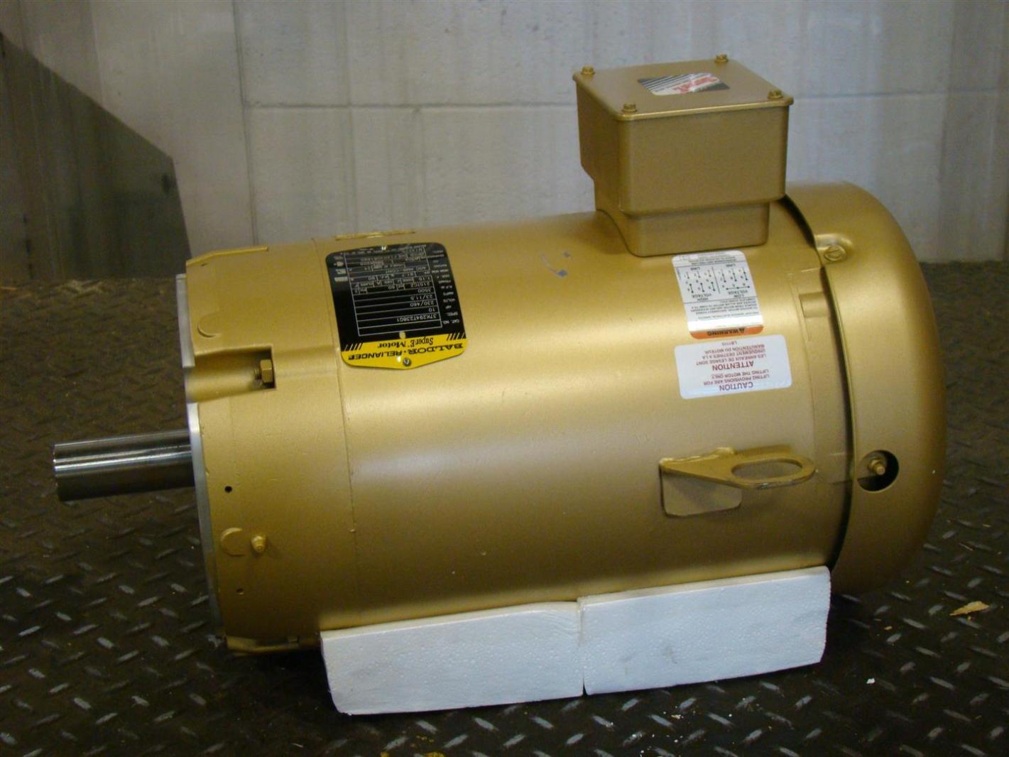 Baldor Reliancer Super E Motor 10hp 230 460v 23 11 5amps