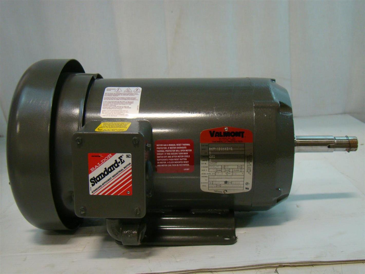 Baldor Standard E Valmont 5hp Electric Motor 460v 6amps