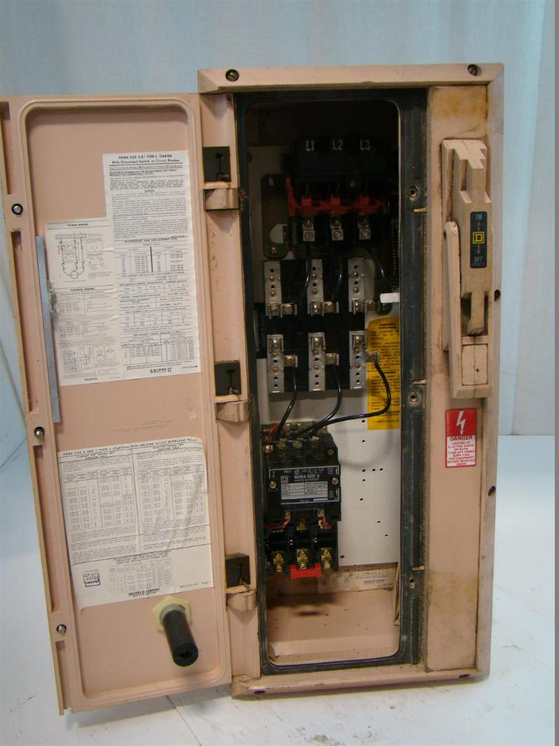 Square D Size O Combination Motor Starter Crouse Hinds