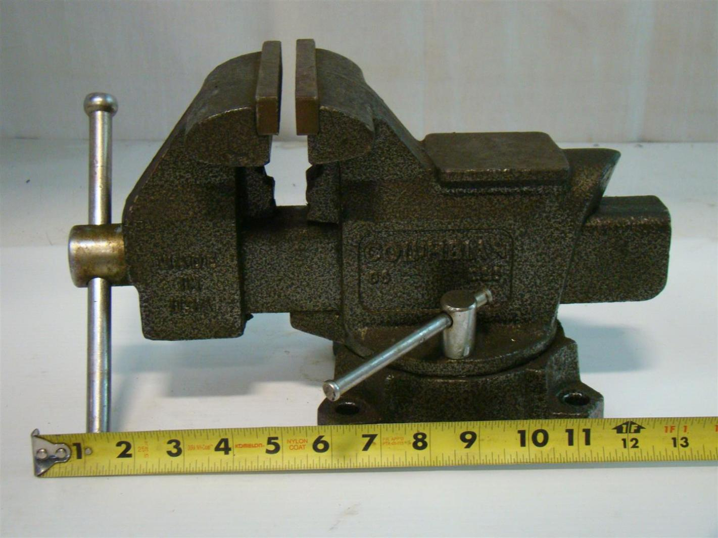 Columbian 5 1 2 bench vise b6 d66 made in usa 6 inch bench vise