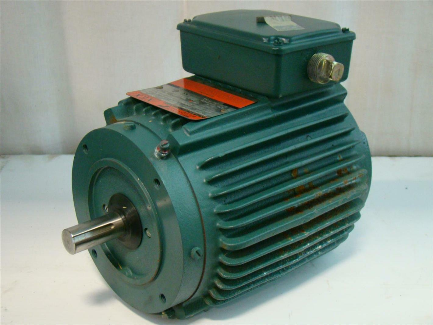 Reliance Electric Motor 230 460v 1725rpm 3 4hp 3ph