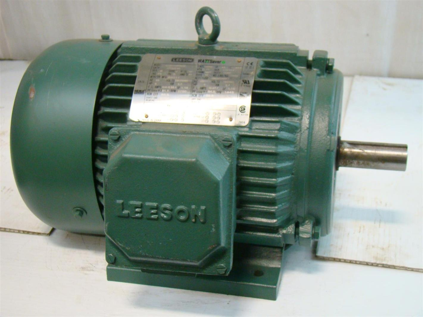 Leeson Wattsaver 5hp Electric Motor 208 230 460v