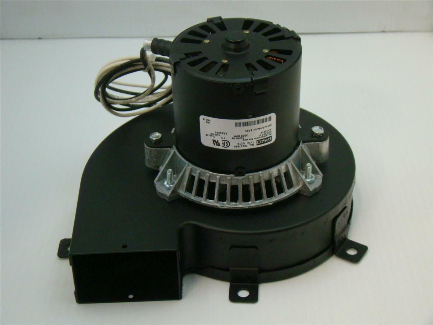 Fasco Motor Blower 208 240v 45 40a 3000rpm 1 60hp U21b 70217890 Agx114 on metal tool chest