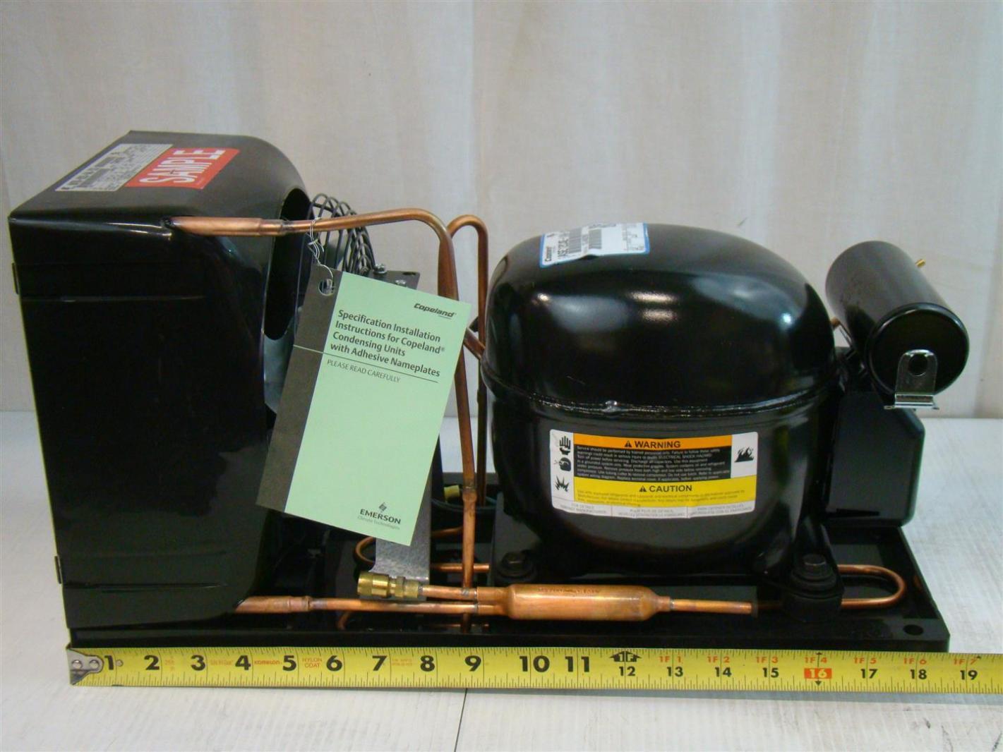 Copeland Narrow Copevap Condensing Unit 115V 1/5HP M4TM H020 IAA XXX  #9F7B2C