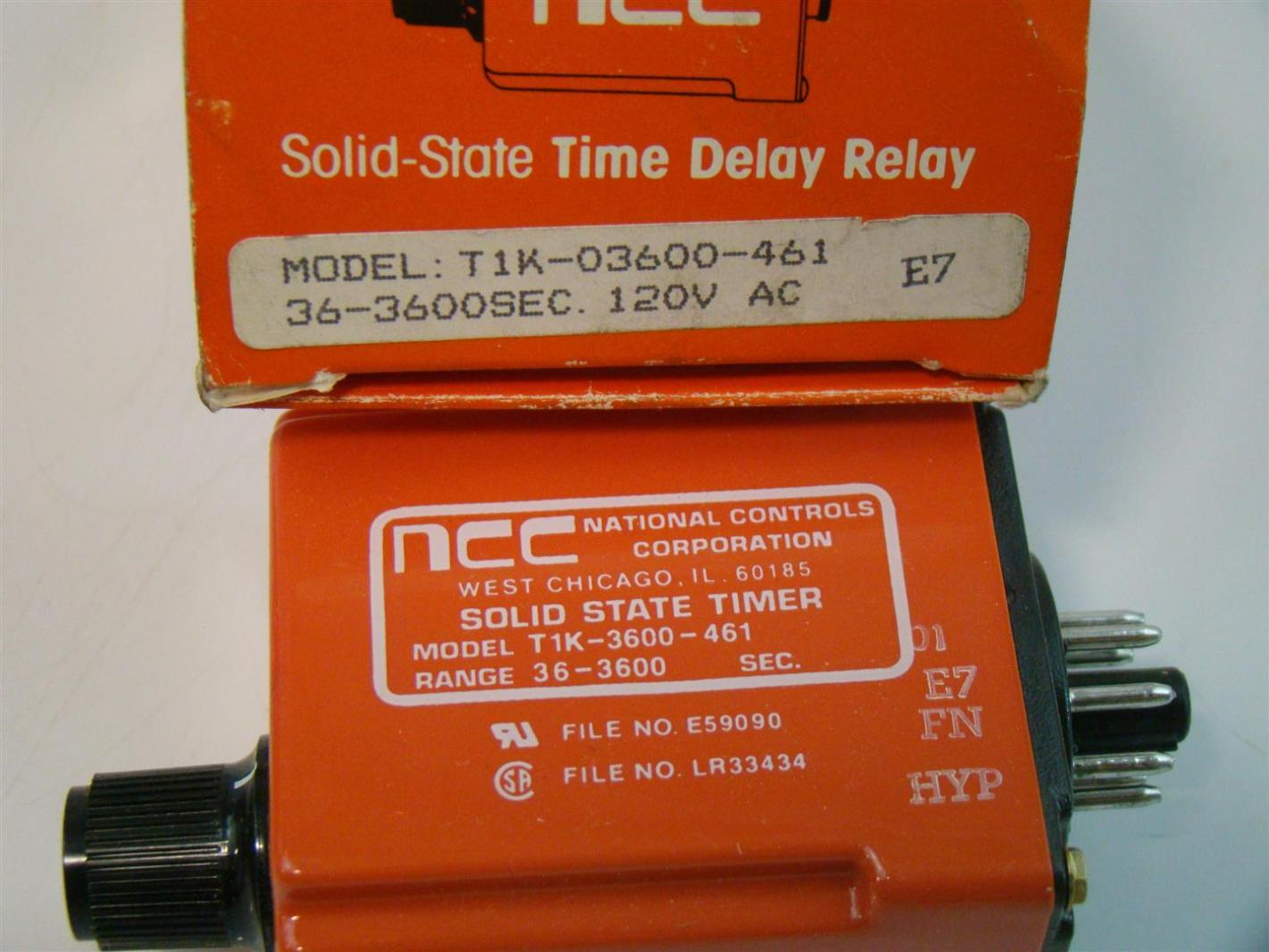 Ncc Solid State Timer Delay Relay 120vac 36