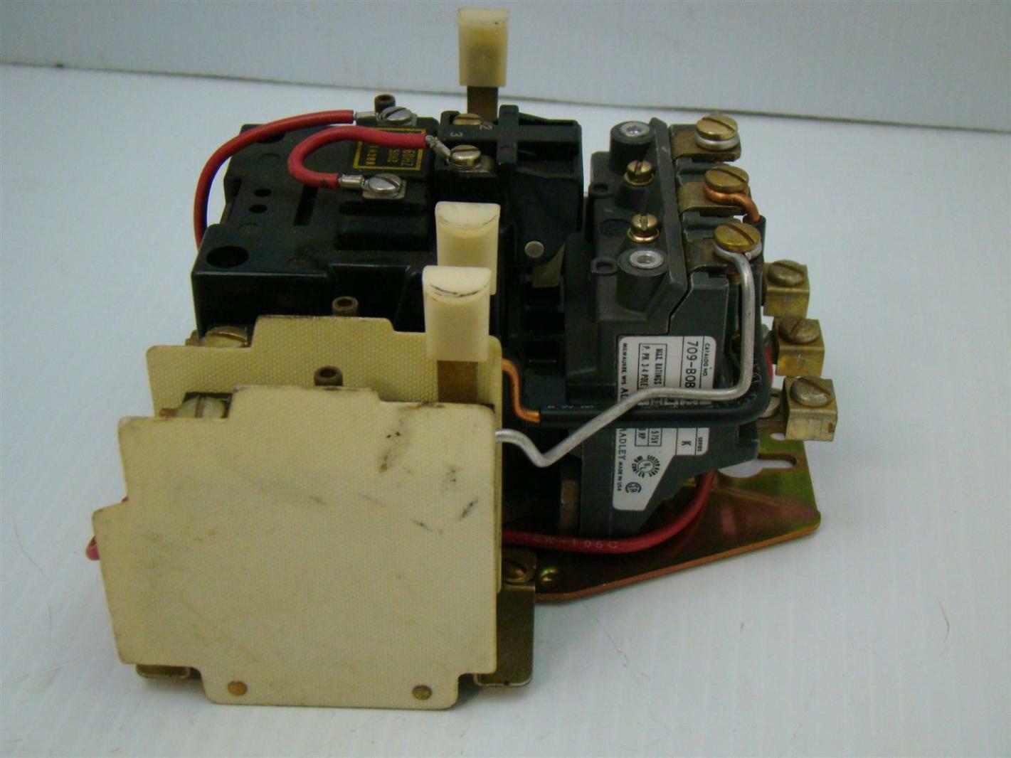 Allen Bradley Motor Starter 440 480v 709 B0b103 71a288