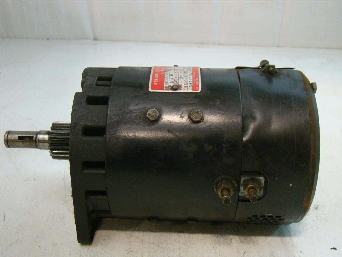 General Electrical Dc Motor 125a 2620rpm 5bc48jb676c Crown