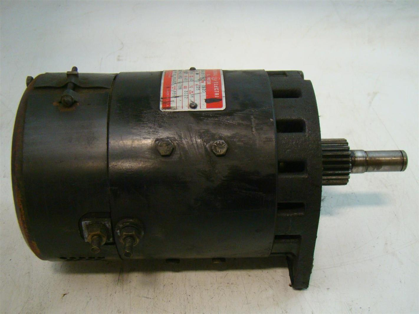 General electrical dc motor 125a 2620rpm 5bc48jb676c crown for General electric dc motors