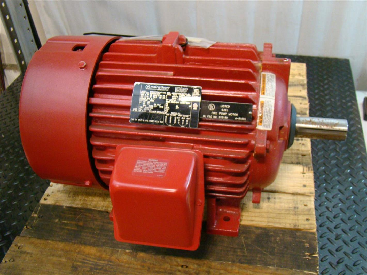 Marathon electric 15hp motor 230 460v 3520rpm for Marathon electric motors model numbers