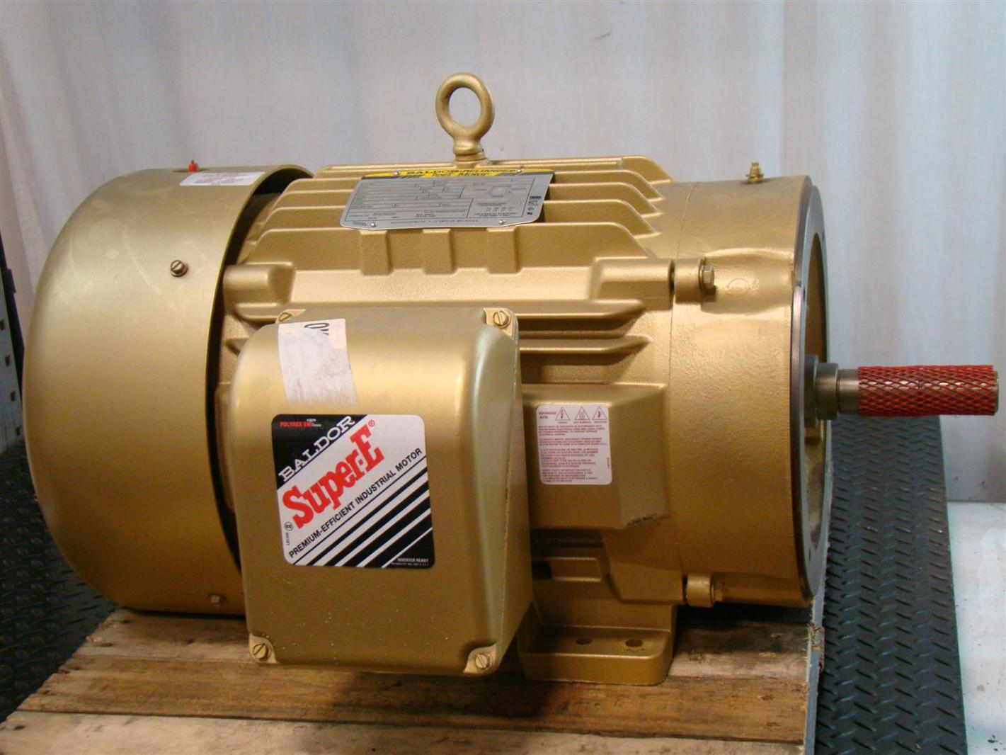 Baldor reliancer super e motor 30hp 3520rpm 230 460v 66 for Baldor reliance super e motor