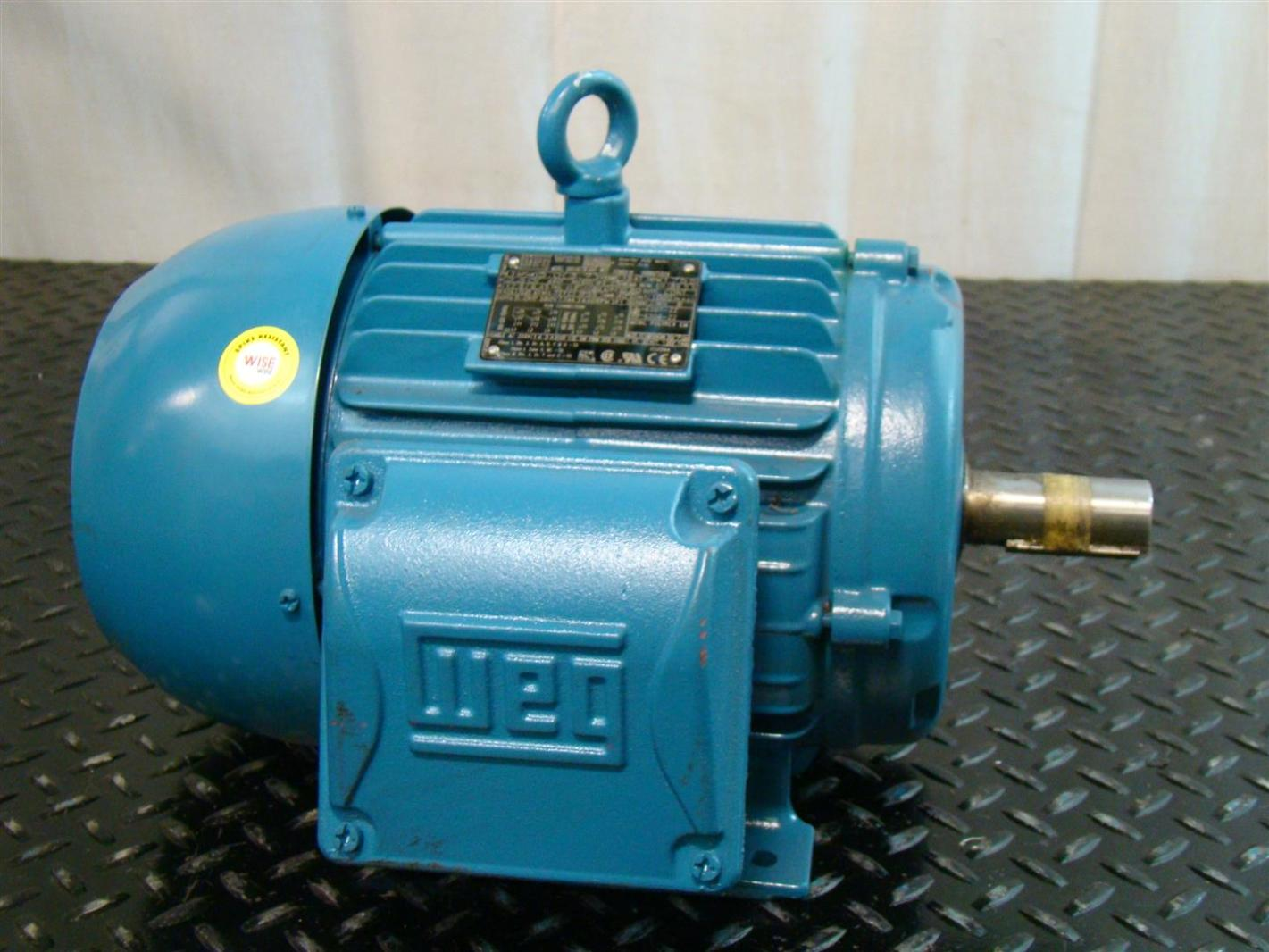 Weg Electric Motor 5hp 1755rpm 230 460v 12 9