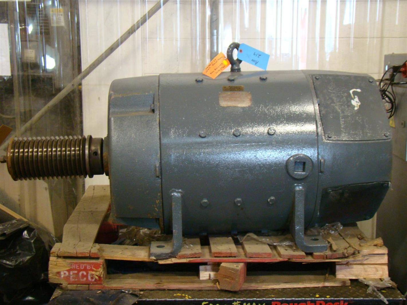 General electric 25hp dc shunt wound motor 300 1200rpm for 25 hp dc electric motor