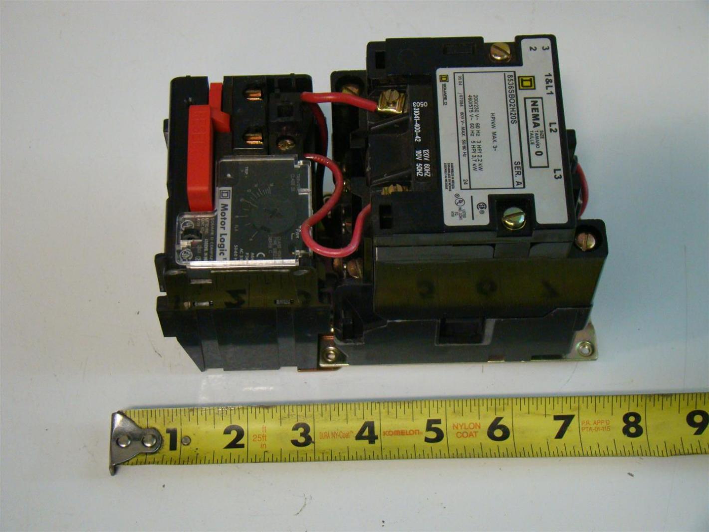 Square d size 0 motor starter motor logic 8536sb02v02h20s for Square d motor logic