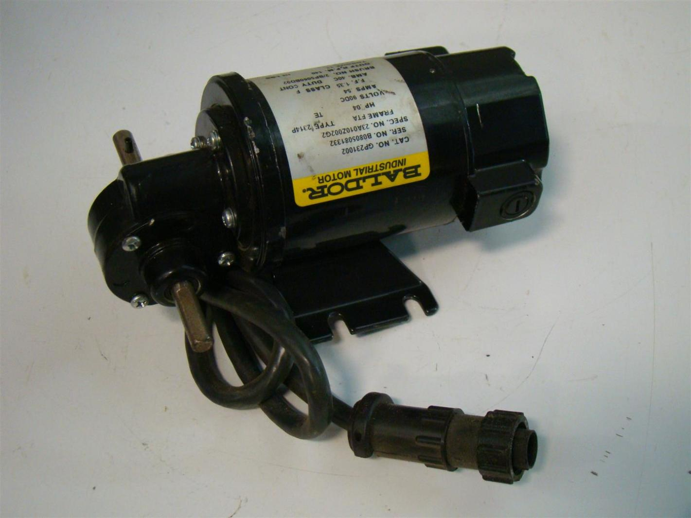 Baldor Dc Gear Motor 04hp 12 1ratio 90vdc 54amps