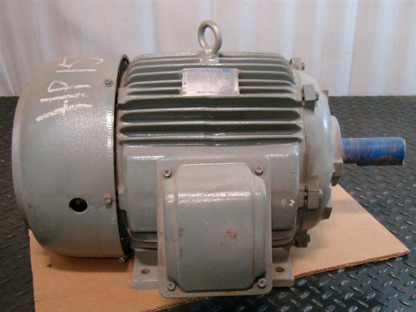 Teco Westinghouse 15hp Electric Motor 3525rpm 230 460v 3
