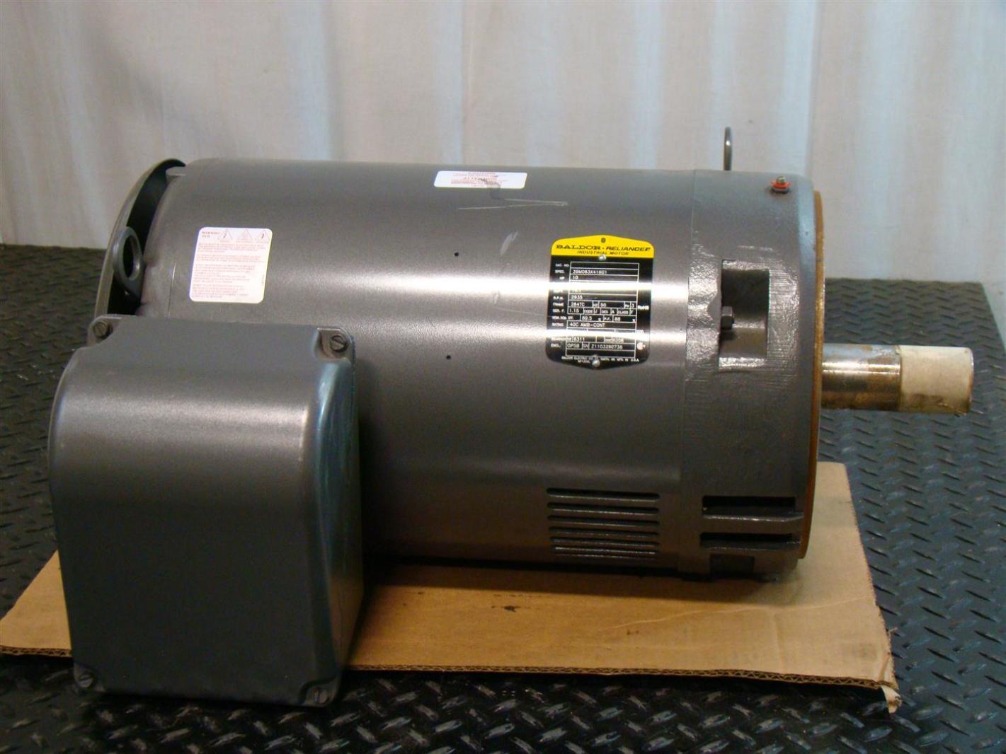 Baldor reliancer industrial motor 10hp 380v 3 2935rpm Baldor industrial motor pump